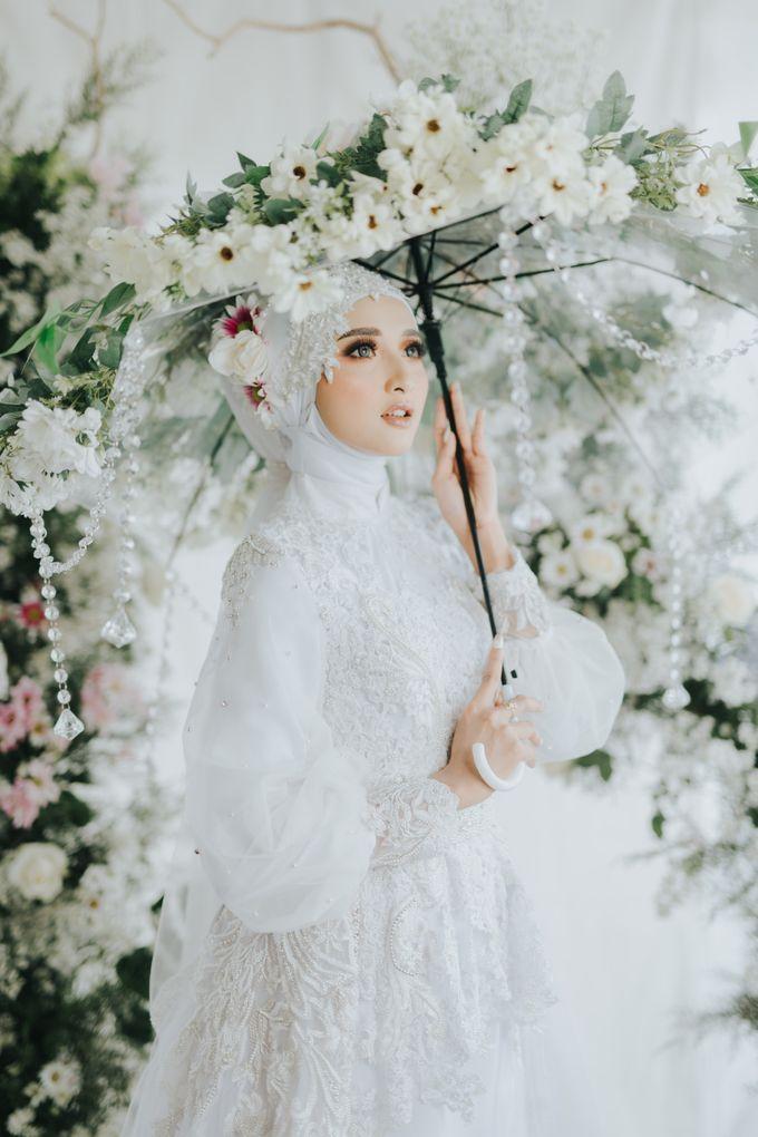 New Collection   White Sahaja Series by LAKSMI - Kebaya Muslimah & Islamic Bride - 003