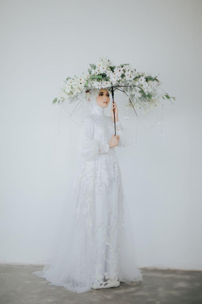 New Collection   White Sahaja Series by LAKSMI - Kebaya Muslimah & Islamic Bride - 004