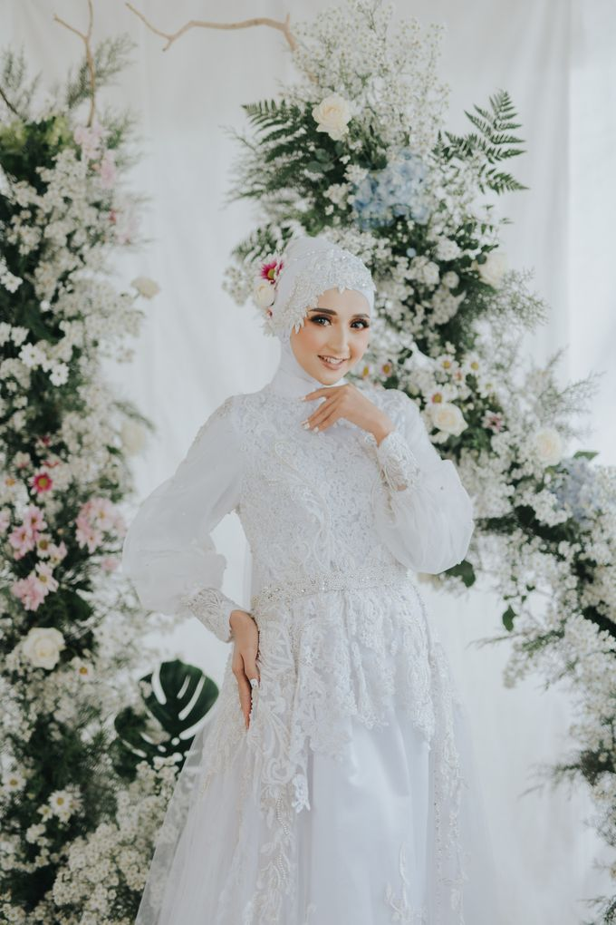 New Collection   White Sahaja Series by LAKSMI - Kebaya Muslimah & Islamic Bride - 006