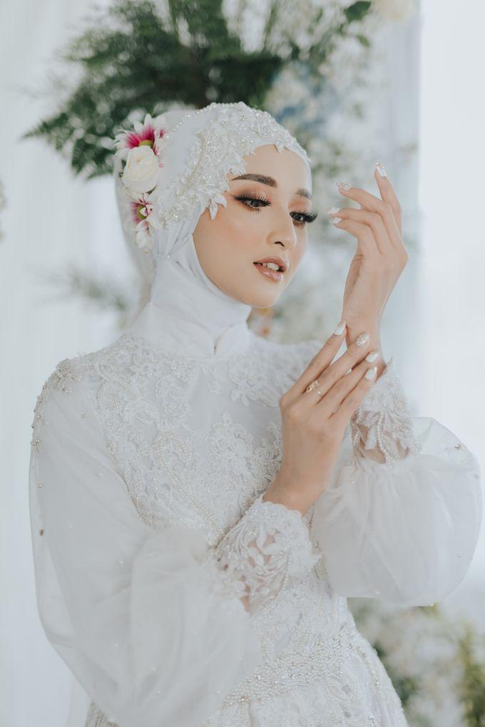 New Collection   White Sahaja Series by LAKSMI - Kebaya Muslimah & Islamic Bride - 005
