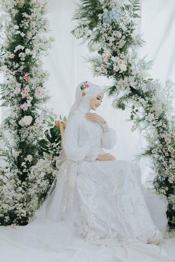 New Collection   White Sahaja Series by LAKSMI - Kebaya Muslimah & Islamic Bride - 008