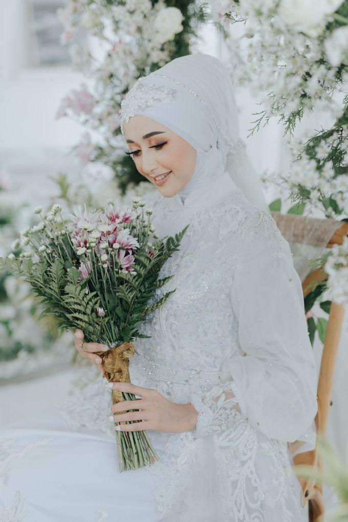 New Collection   White Sahaja Series by LAKSMI - Kebaya Muslimah & Islamic Bride - 007