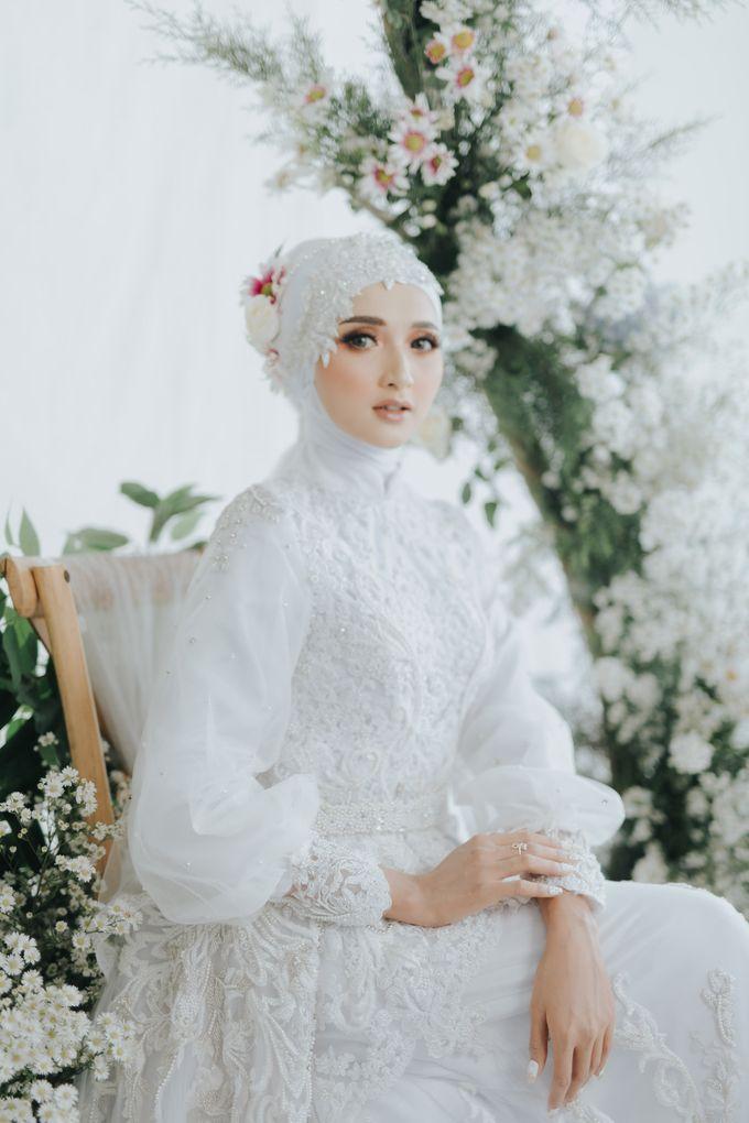 New Collection   White Sahaja Series by LAKSMI - Kebaya Muslimah & Islamic Bride - 009