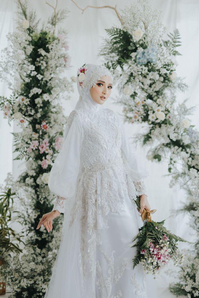 New Collection   White Sahaja Series by LAKSMI - Kebaya Muslimah & Islamic Bride - 002