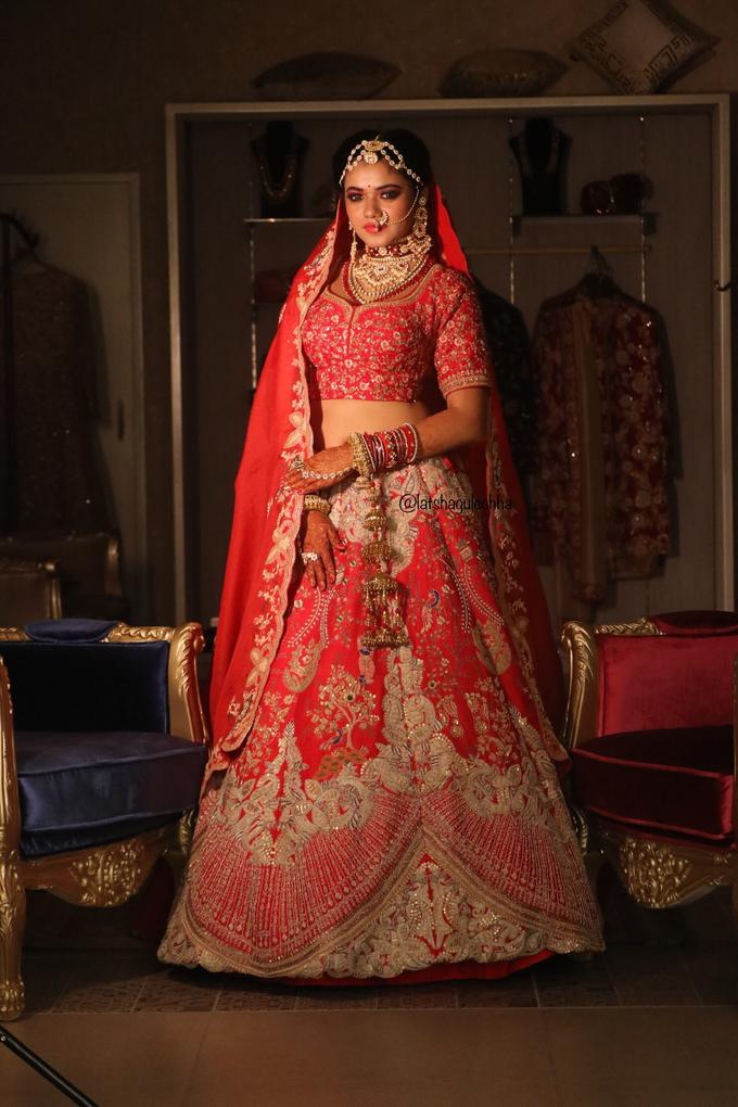Varnamala /Reception look by Latsha Gulechha Makeovers - 001