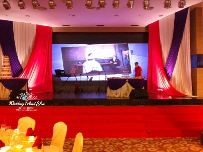 Stage Backdrop Design by Wedding And You - 005