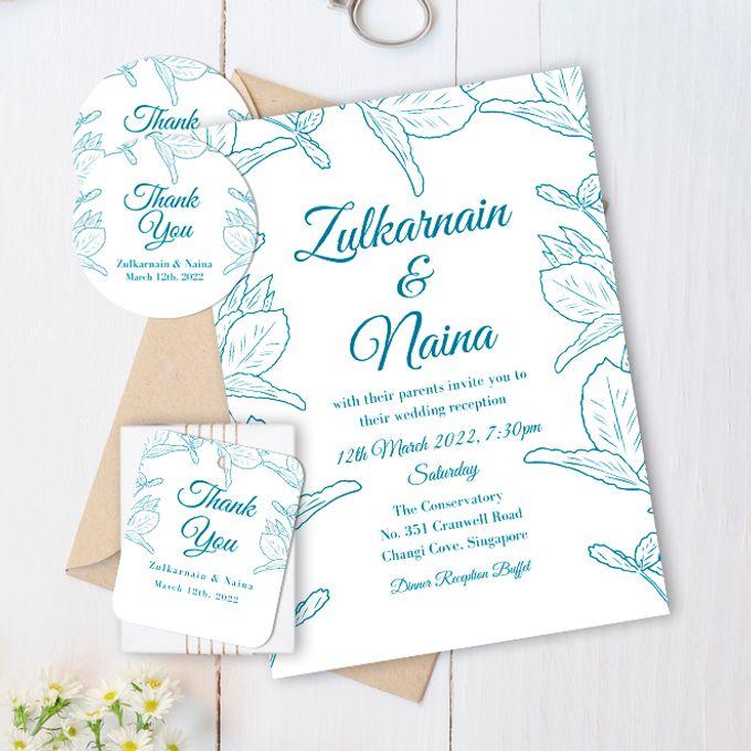 Leaf Crown Wedding Invitation by Gift Elements - 001