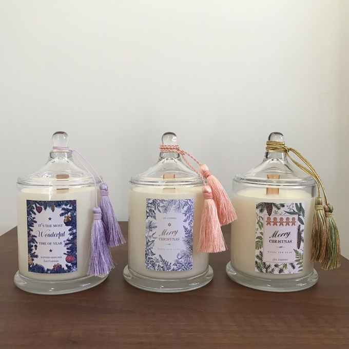 Customized Candles For Wedding Favors By Les Copines Candle Diffusers Bridestory Com
