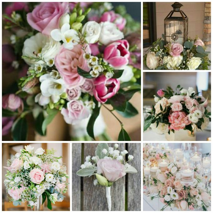 Champagne, Pink, Peach & Cream Theme by Dorcas Floral - 002
