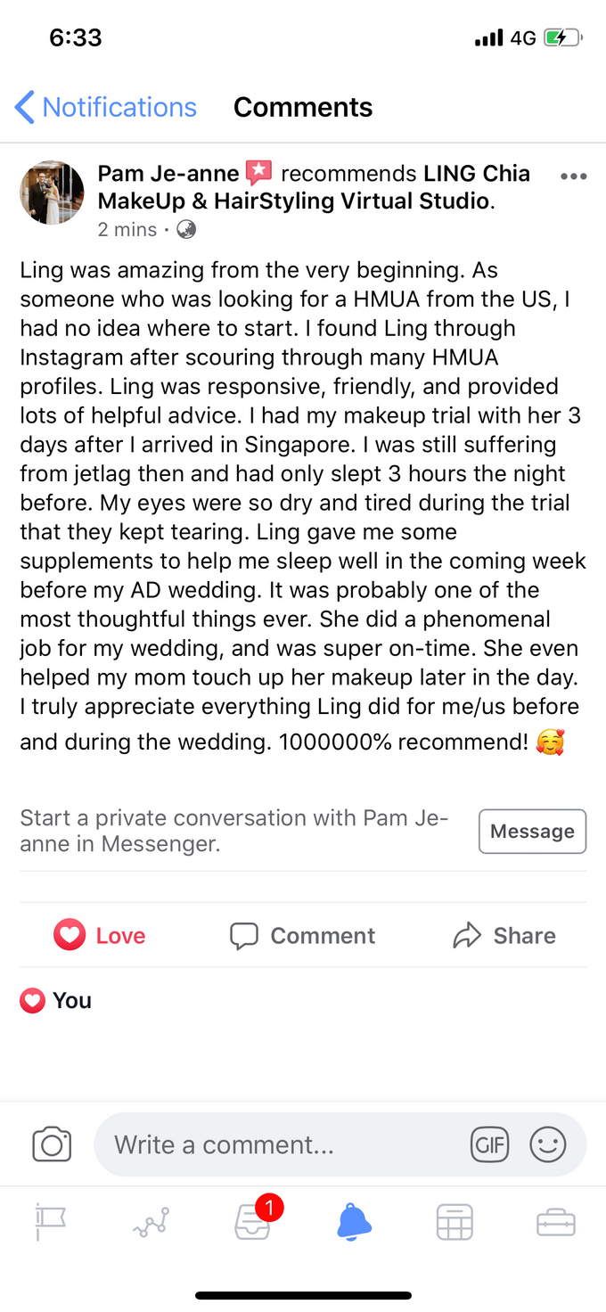 Reviews by LING Chia Makeup & Hairstyling - 002