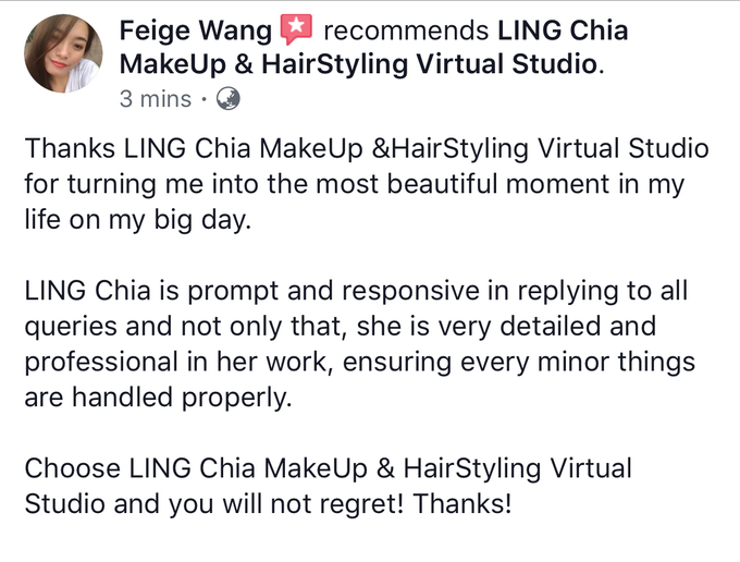 Reviews by LING Chia Makeup & Hairstyling - 005