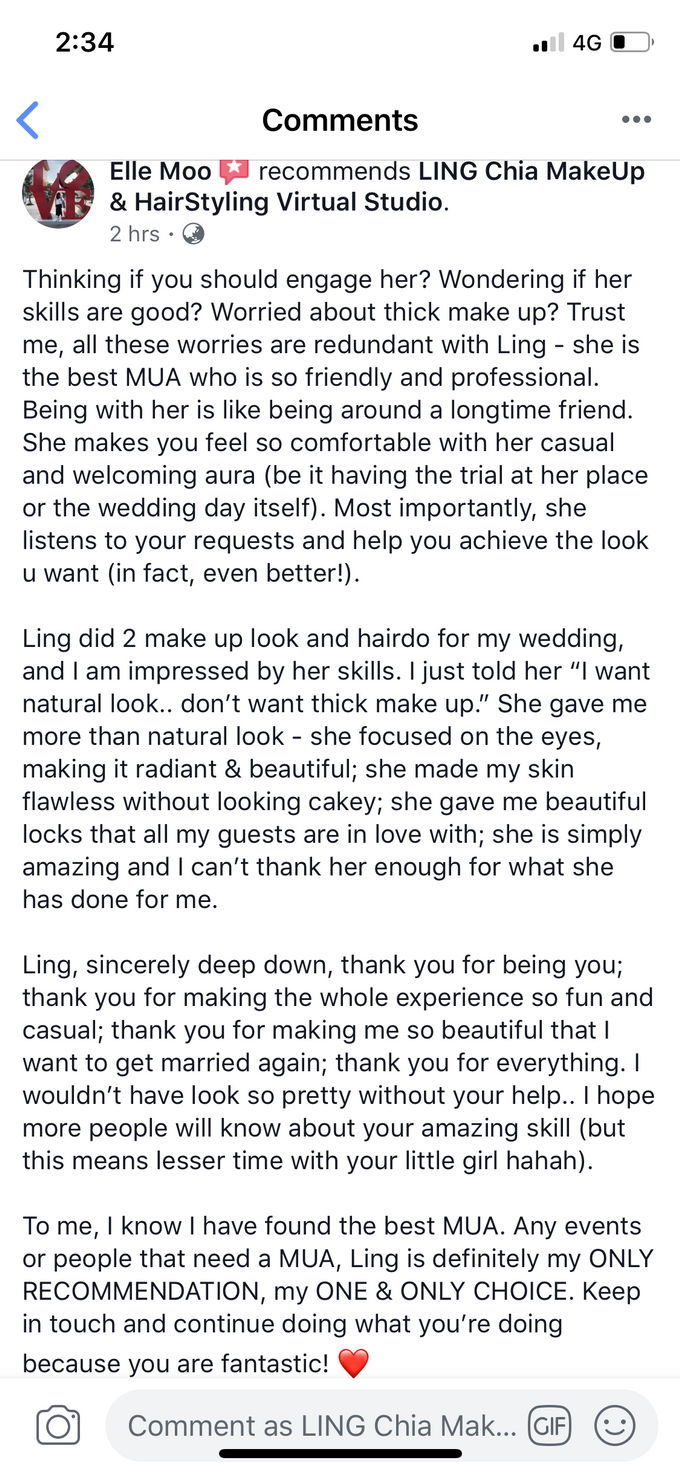 Reviews by LING Chia Makeup & Hairstyling - 007