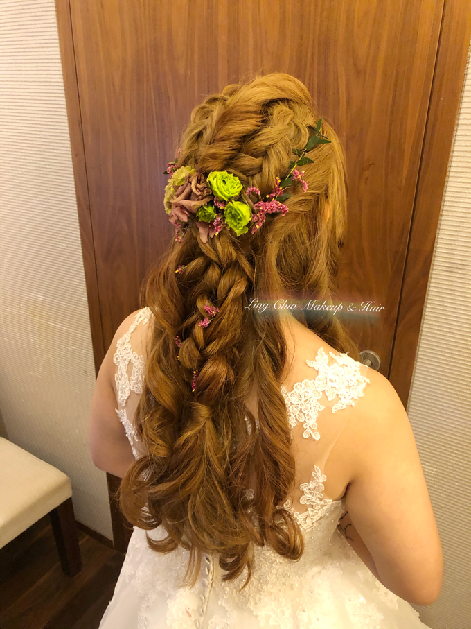 Brides styling by LING Chia Makeup & Hairstyling - 009