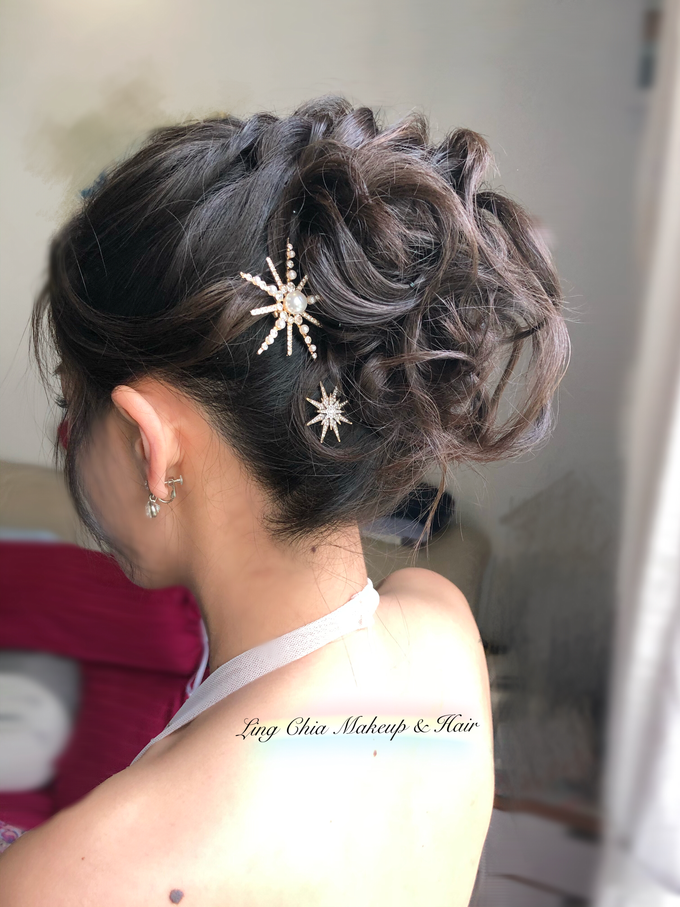 Brides styling by LING Chia Makeup & Hairstyling - 012