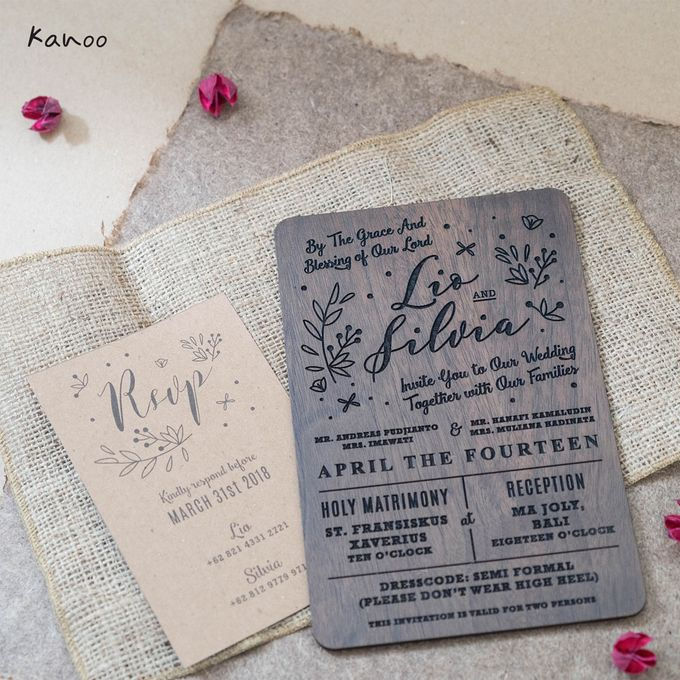 Wedding Invitation - Wood in Summer by Kanoo Paper & Gift - 003