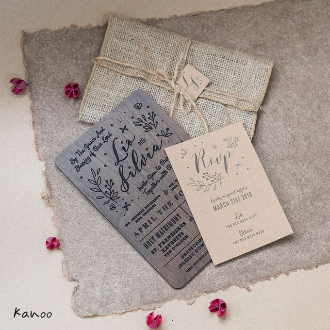 Wedding Invitation - Wood in Summer by Kanoo Paper & Gift - 005