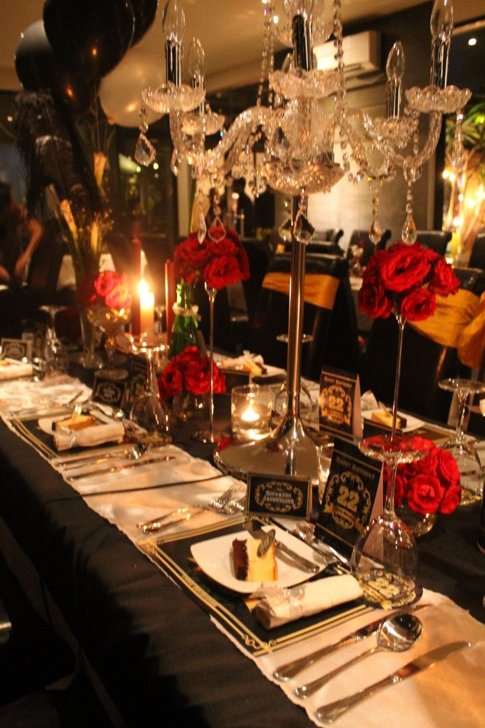 Elegant Champagne Birthday Dinner For DAVID by 1994 Decoration - 006