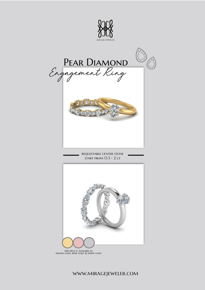 PEAR Center Engagement Ring by Mirage Jeweler - 008