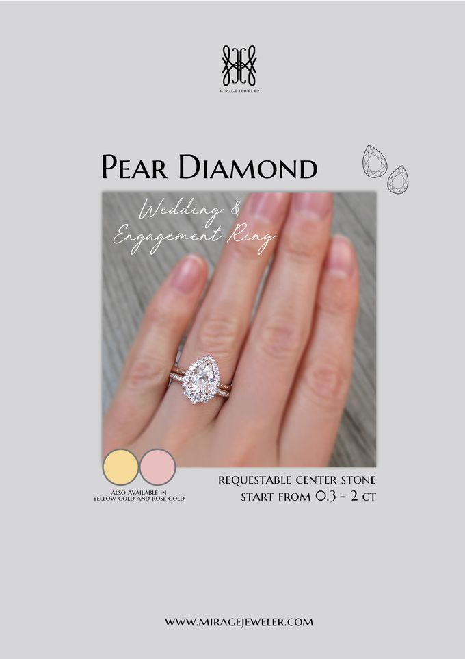 PEAR Center Engagement Ring by Mirage Jeweler - 001