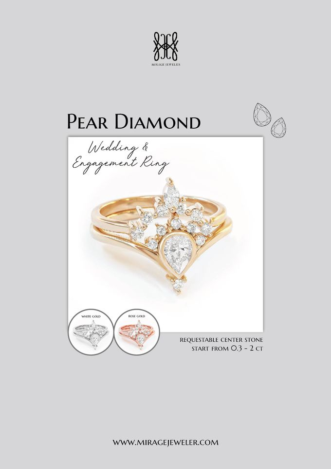 PEAR Center Engagement Ring by Mirage Jeweler - 004