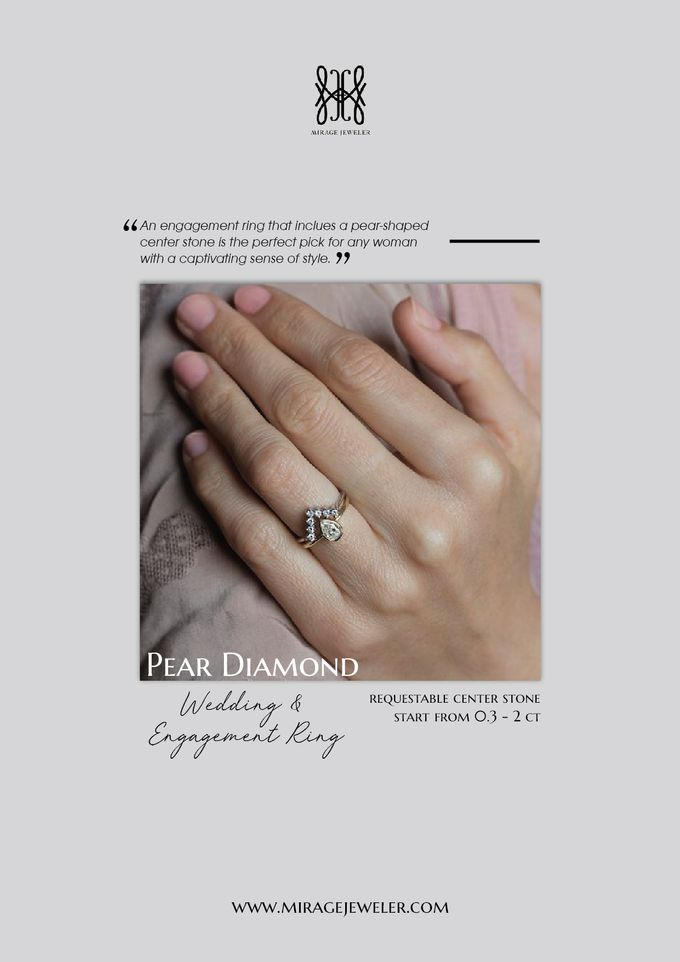 PEAR Center Engagement Ring by Mirage Jeweler - 002