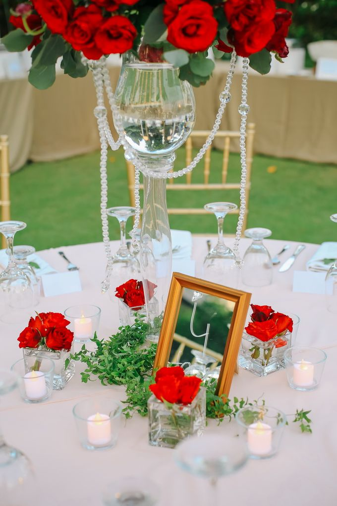 Sexy Red &  Glam Deco by Louloudi Wedding & Events Stylist - 012