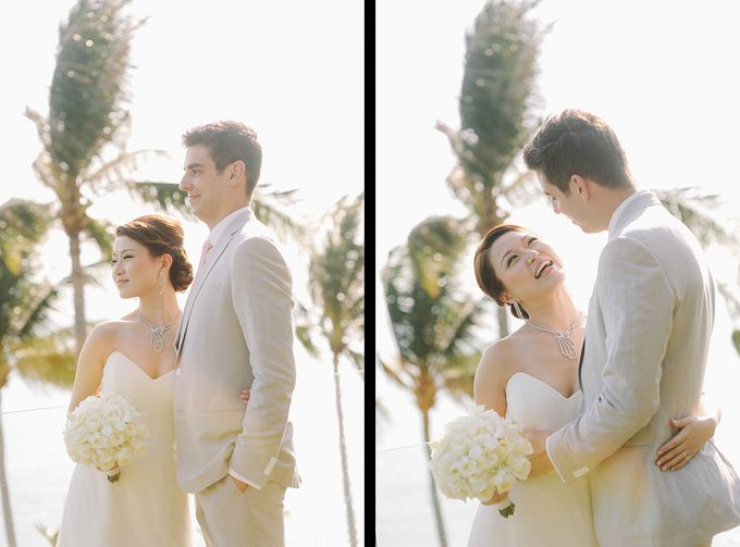 Beach wedding photo at Conrad Koh Samui by Lovedezign Photography - 018