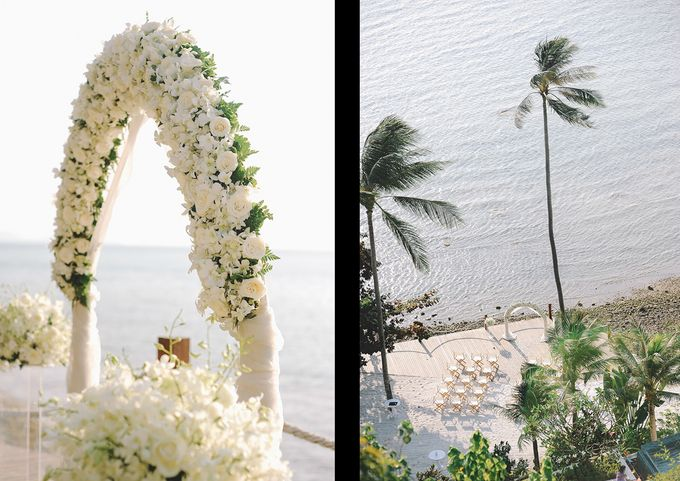 Beach wedding photo at Conrad Koh Samui by Lovedezign Photography - 021
