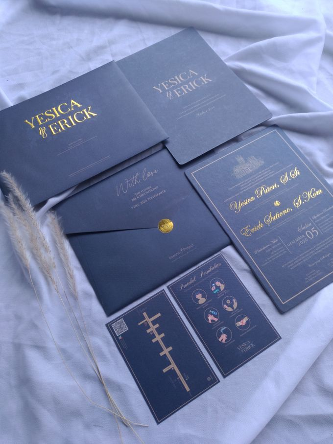 Yesica & Eric - Elegant Navy Gold Hard Cover by Keeano Project - 006
