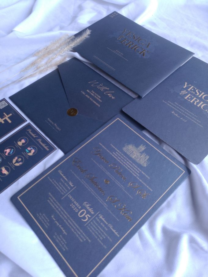 Yesica & Eric - Elegant Navy Gold Hard Cover by Keeano Project - 001