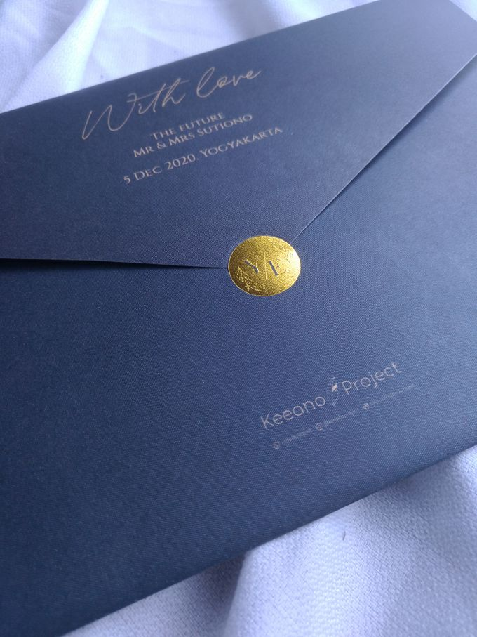 Yesica & Eric - Elegant Navy Gold Hard Cover by Keeano Project - 004