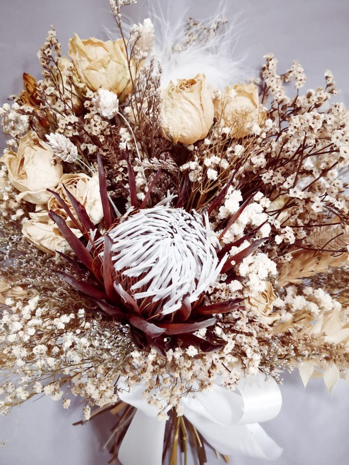 Dried Wedding Bouquet Series by Frisch Florist - 007
