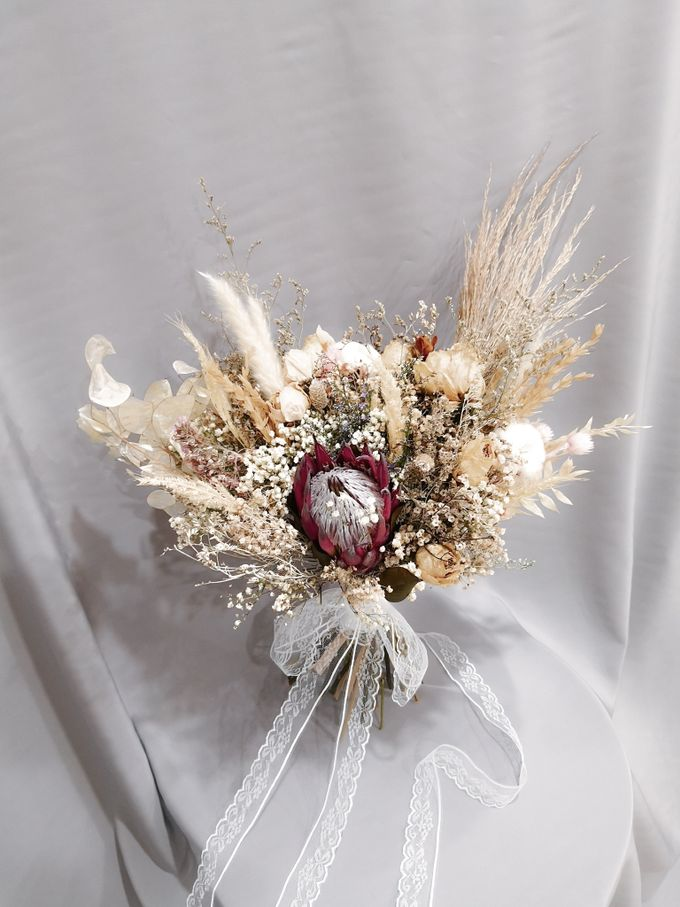 Dried Wedding Bouquet Series by Frisch Florist - 004