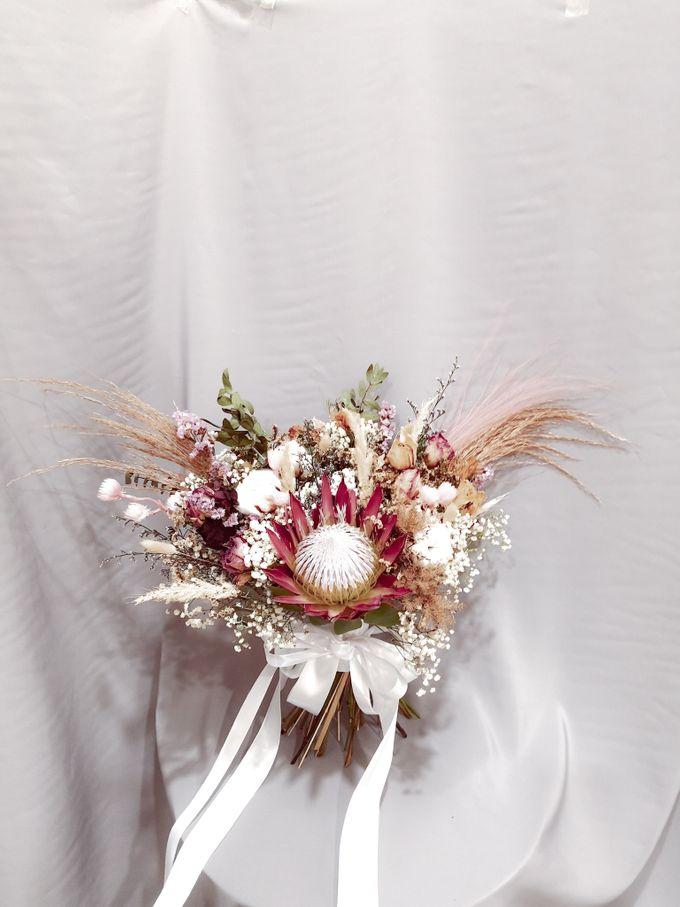 Dried Wedding Bouquet Series by Frisch Florist - 003