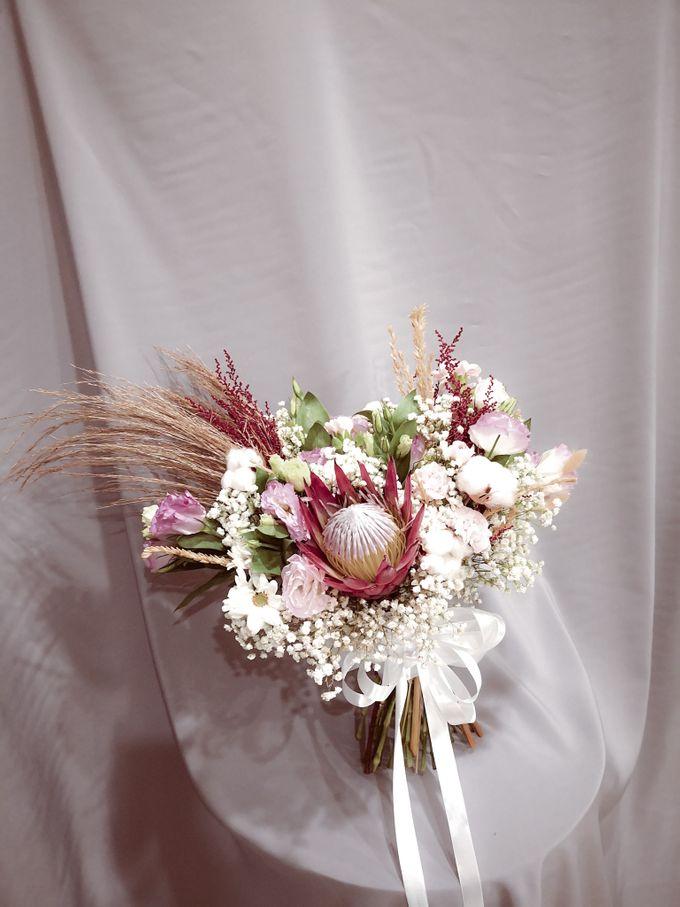 Dried Wedding Bouquet Series by Frisch Florist - 006