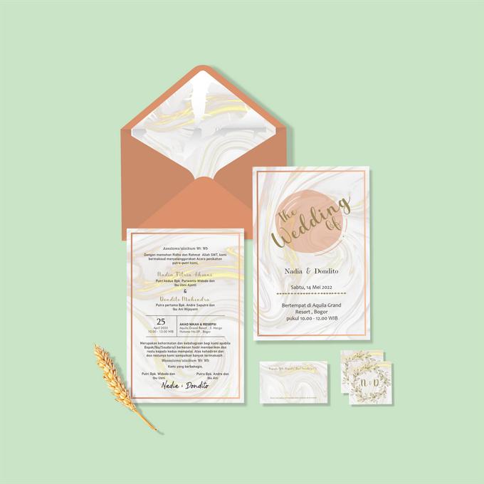 Undangan Ekslusif by Aura: Undangan Pernikahan | Wedding Invitation - 001