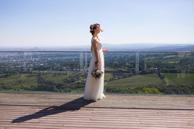 Wedding on the Top of Vienna by Michele Agostinis Photographer - 005