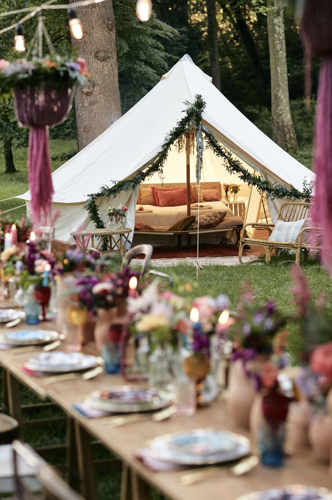 Luxury Boho style wedding  by lusso Events - 001