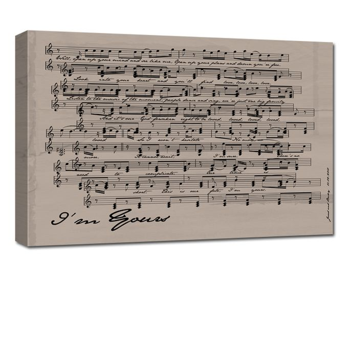 Sheet Music Canvas by Geezees Custom Canvas - 003