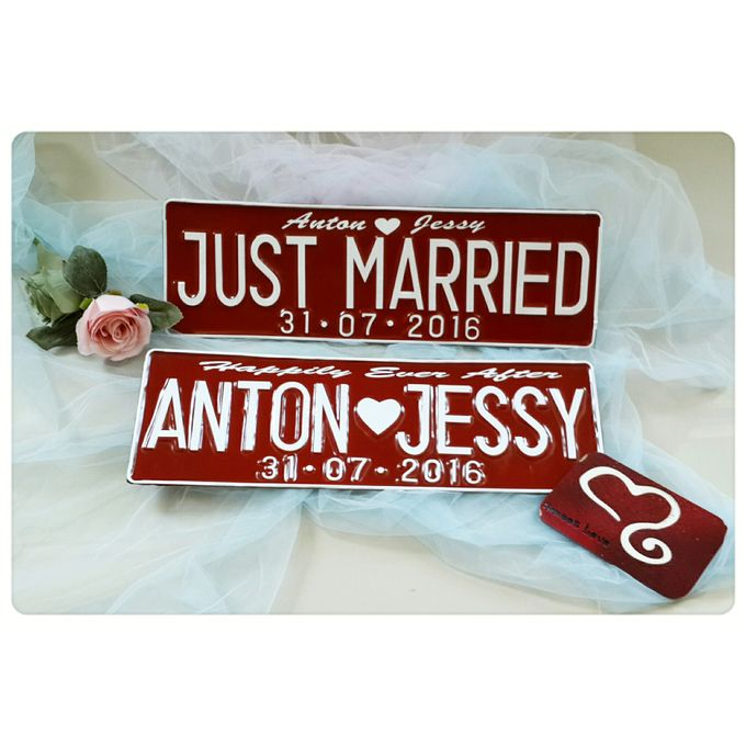 Wedding Car Plate by Sweetlovecollection - 005