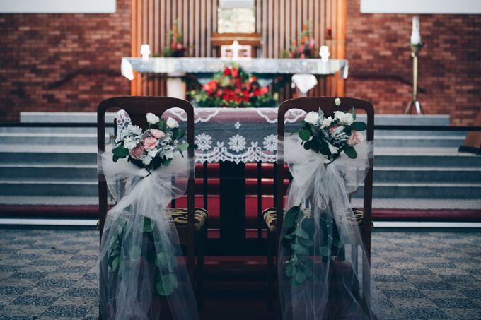 Soft Pastels Church Wedding - Iva & Raymond by Flores de Felice - 004