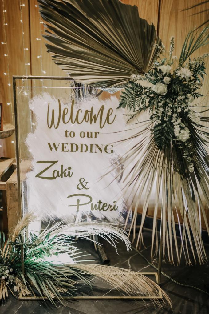 Puteri & Zaki Wedding Akad And Reception by AVIARY Bintaro - 026