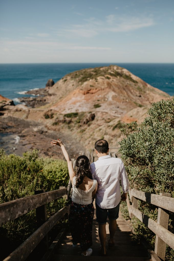 Prewedding Shoot Conquering Different Natural Sights of Victoria Australia by fire, wood & earth - 019