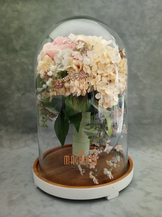Glass Dome Dried Flower by Magnolia Dried Flower - 002