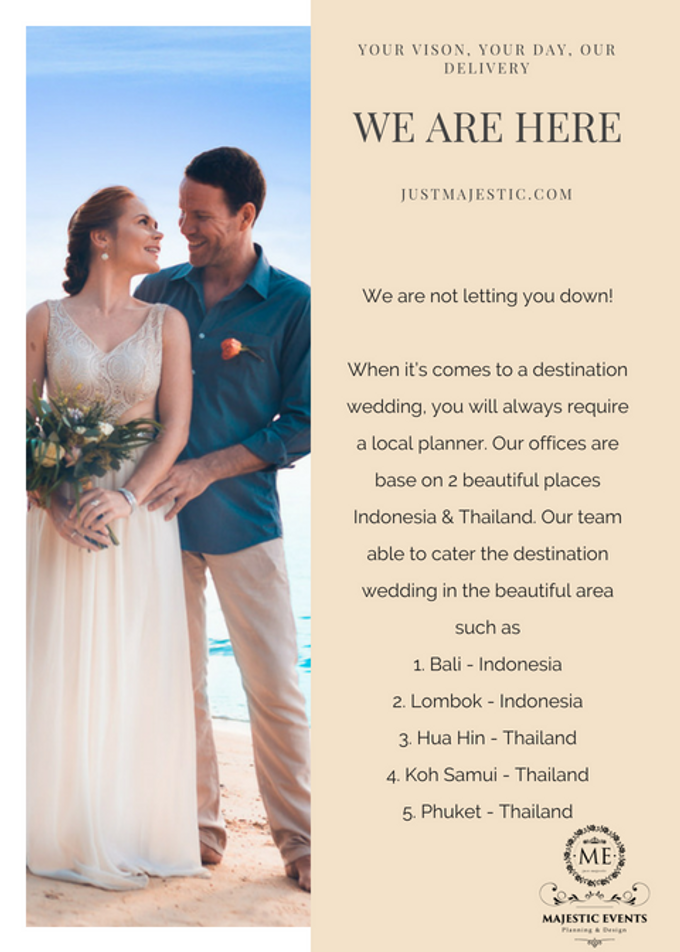 How to plan a destination wedding by Majestic Events - 003