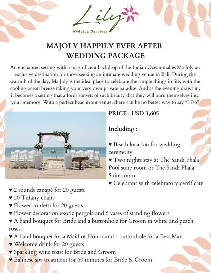 Our Wedding Packages by Lily Wedding Services - 009