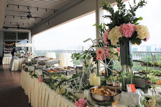 Rustic Wedding Dessert Table by Manna Pot Catering - 016