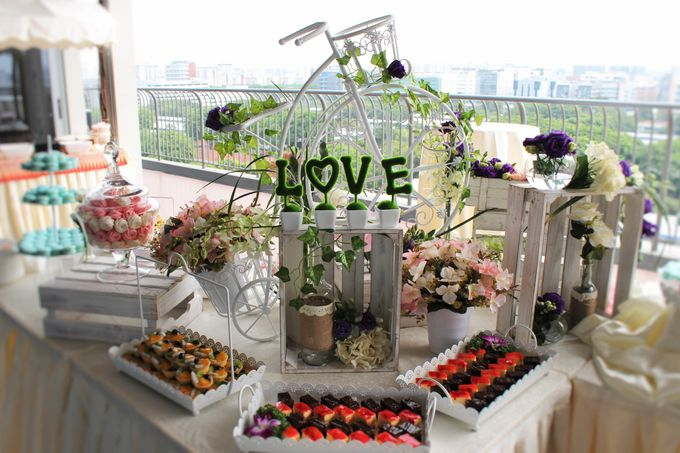 Rustic Wedding Dessert Table by Manna Pot Catering - 011