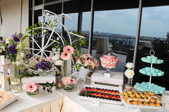 Rustic Wedding Dessert Table by Manna Pot Catering - 009