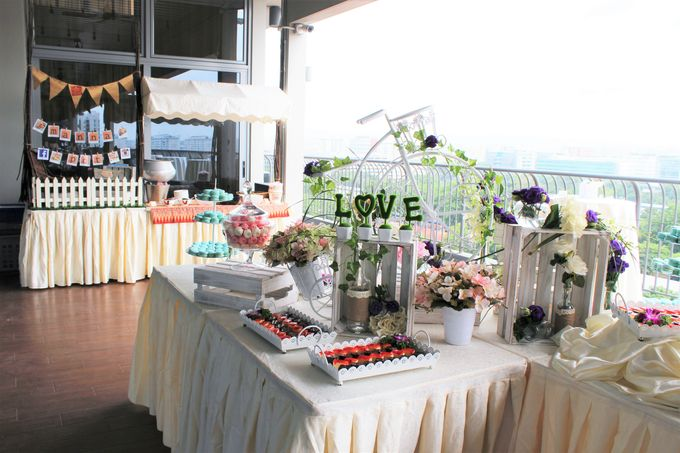 Rustic Wedding Dessert Table by Manna Pot Catering - 010